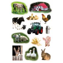 etiketten boerderij junior 16 x 9 cm papier 3 vellen