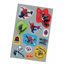 stickers Spider-Man junior papier grijs/blauw