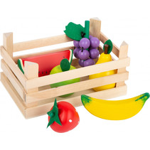speelset fruit junior 18 x 12 cm hout/vilt naturel