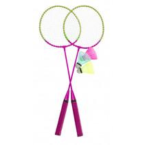 badmintonset roze 5-delig