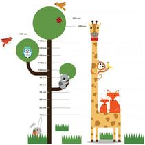 muursticker groeimeter boom junior 188 cm PVC 3-delig