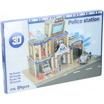 3D-puzzel politiebureau junior 84 stukjes