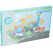 3D-puzzel vliegveld junior 82 stukjes
