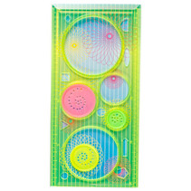 tekenset cirkels maken 10 x 20,5 cm geel