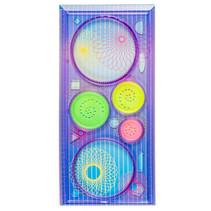 tekenset cirkels maken 10 x 20,5 cm paars