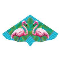 vlieger flamingo junior 115 x 63 cm groen/roze