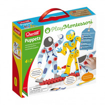 knutselpakket Puppets junior karton wit/geel 88-delig