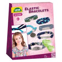 maak je eigen armbanden meisjes polyester blauw 24-delig