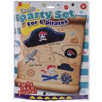knutselset Craft Piraat jongens zwart/grijs