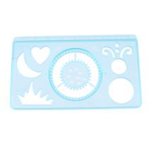 tekensjabloon junior 9 cm blauw