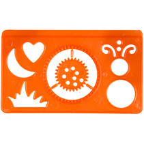 tekensjabloon junior 9 cm oranje