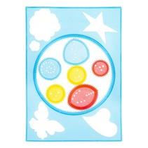 spirografieset 7-delig blauw/geel/rood