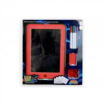 tekenbord junior 23 x 16 x 2 cm rood 6-delig