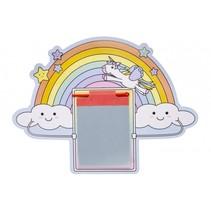 tekenbord met pen regenboog 24 cm