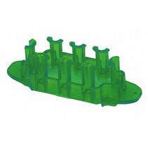loombord Mini junior rubber 8 x 2,5 x 2,5 cm donkergroen