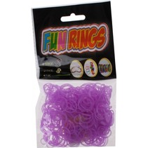 loombandjes Fun Rings meisjes rubber lila 325-delig