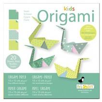 origami Zwaan vouwen 15 x 15 cm 20 stuks multicolor