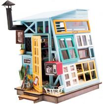 knutselset poppenhuis houten hut met LED