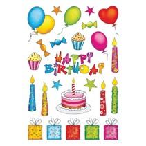 stickers happy birthday 50 stuks multicolor