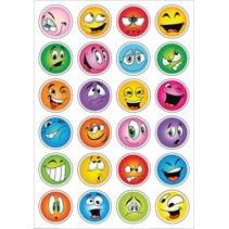 stickers smiley 48 stuks multicolor
