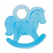 decoratie hobbelpaard blauw 3 cm 16 stuks