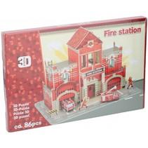 puzzel 3D brandweer 86 stukjes