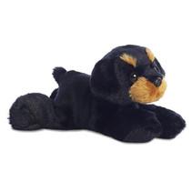 knuffel Mini Flopsie Rottweiler 20,5 cm pluche zwart