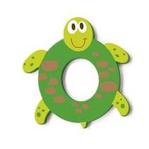 letter O schildpad groen 5.5 cm