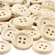 houten knopen 23 mm 30 stuks