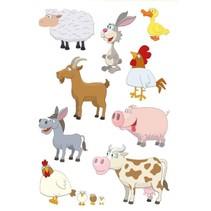 etiketten 12 stuks 16 x 9 cm boerderijdieren