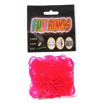 loombandjes Fun Rings meisjes rubber donkerroze 325-delig