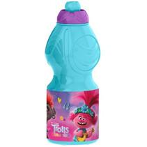 drinkfles Trolls 2 junior 400 ml blauw/paars
