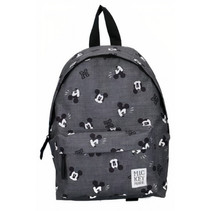 rugzak Mickey Mouse 31 x 22 cm polyester grijs