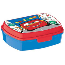 broodtrommel Cars 3 junior 17 x 14 cm blauw/rood