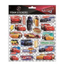 foamstickers Cars 24 x 20,5 cm 22-delig rood
