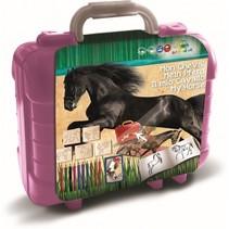 kleurset Paarden koffer 81-delig 19 x 11 mm