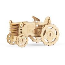 3D-puzzel Tractor 15 x 9 cm hout bruin