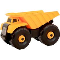 kiepwagen jongens 15 cm geel/zwart
