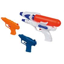 waterpistolenset junior wit/oranje/blauw 3-delig