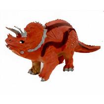 speelfiguur Dinosaurus Triceratops 15 x 8 cm bordeaux