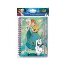 notitieboekje Frozen junior A5 papier turquoise