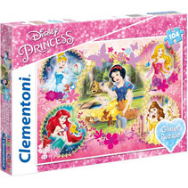 legpuzzel Disney Prinses Glitter meisjes 104 stukjes