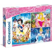 Disney Princess legpuzzel 3 puzzels 48 stukjes