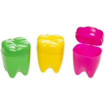 tandendoosje junior 4 x 2,5 x 2,5 cm geel