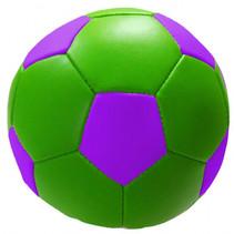speelbal Soft junior 10 cm kunstleer groen/paars