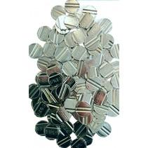 tafelvoetbaltokens staal zilver 100 stuks