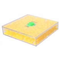 geduldspel Rotate Maze 6,5 cm geel