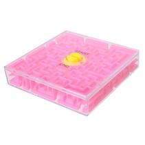 geduldspel Rotate Maze 6,5 cm roze