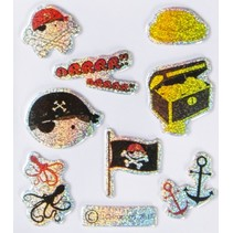 Stickers piraat/ vlag 9 stuks