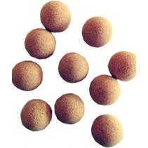 tafelvoetbalballen kurk bruin 10 stuks